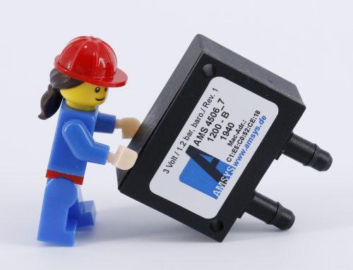 The smallest wireless differential pressure sensor AMS 4516
